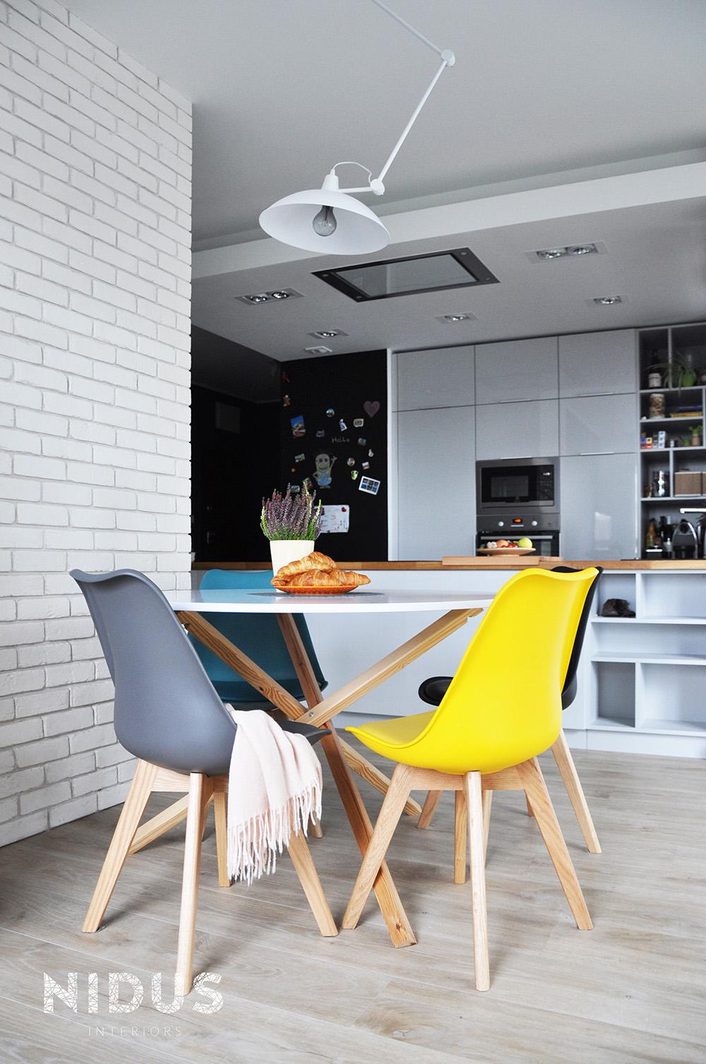 Funkcjonalne połączenie kuchni jadalni i salonu