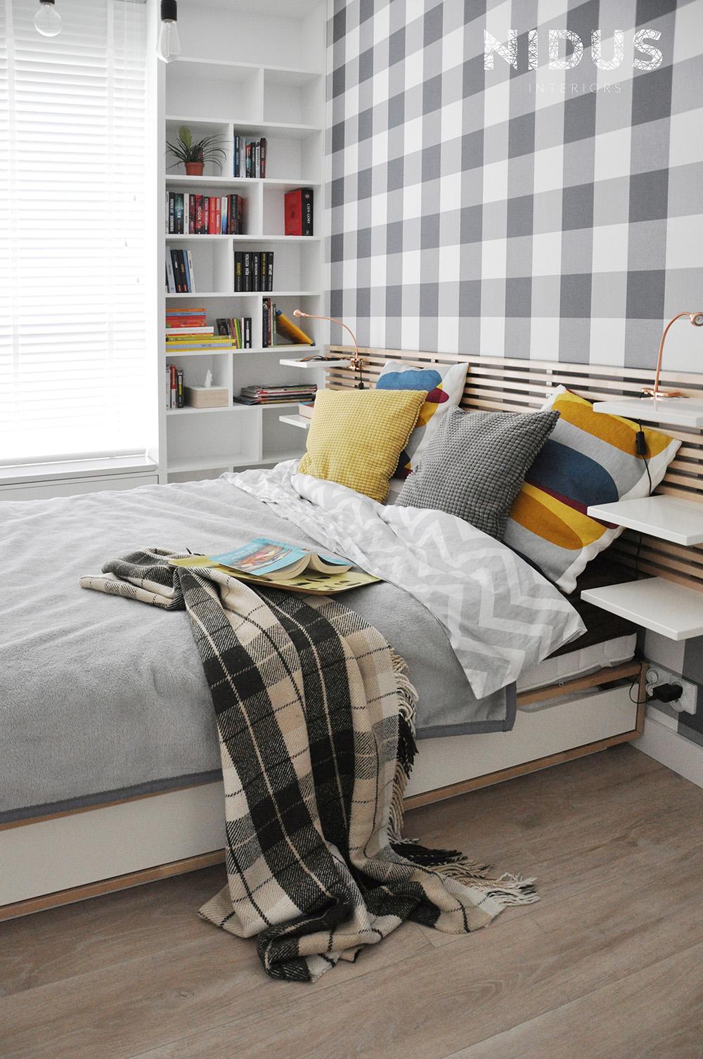 Przytulna sypialnia, której nie straszny bałagan